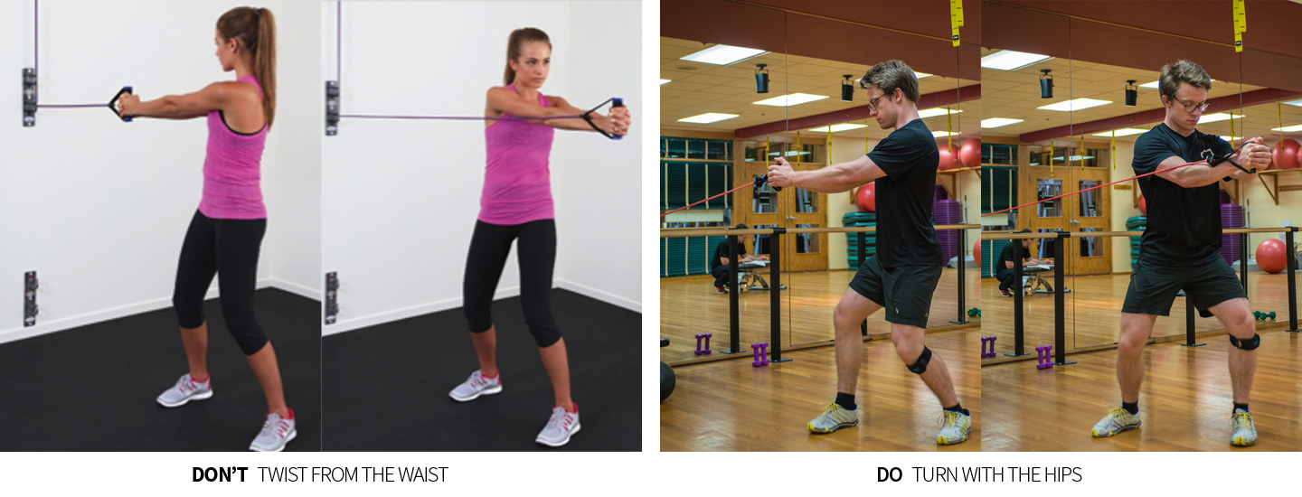 Don't: Twist from the Hips; Do: Turn from the Hips