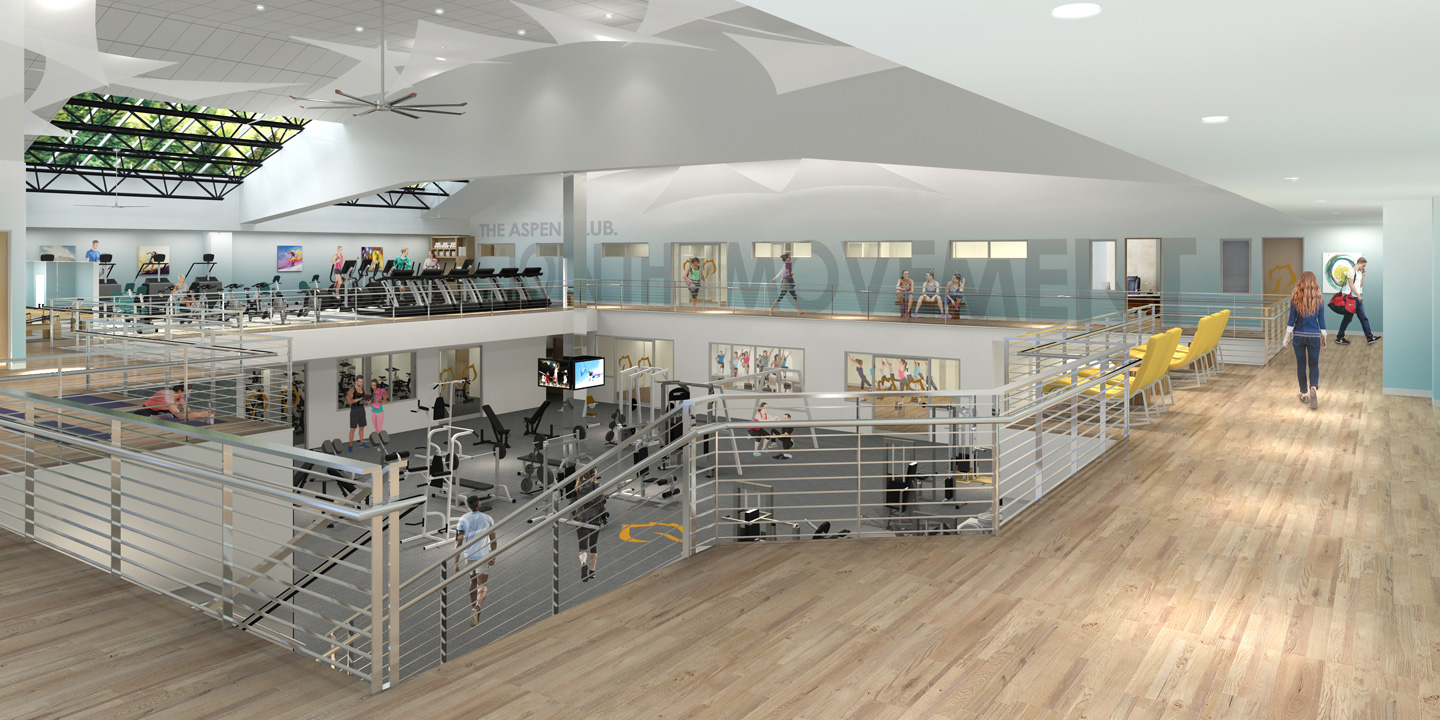 Aspen Club Gym Space Rendering