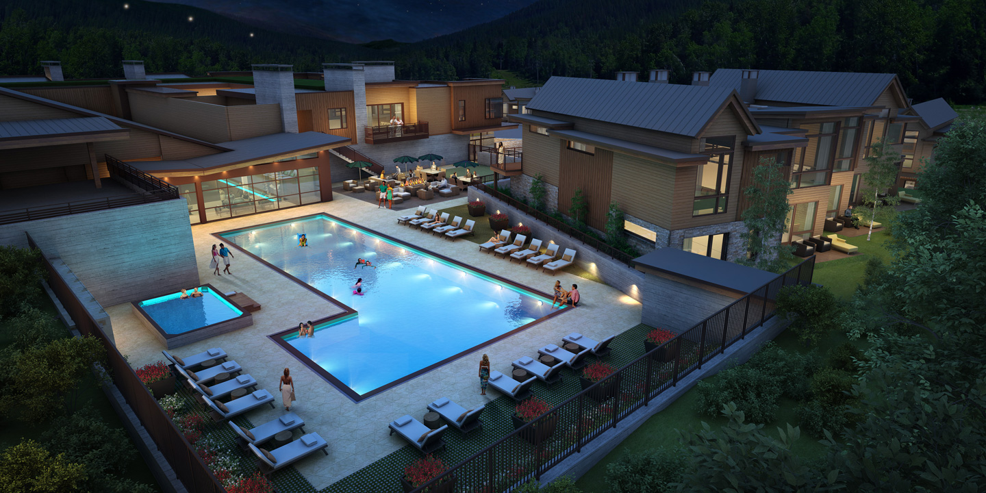 Aspen Club Poolside Rendering