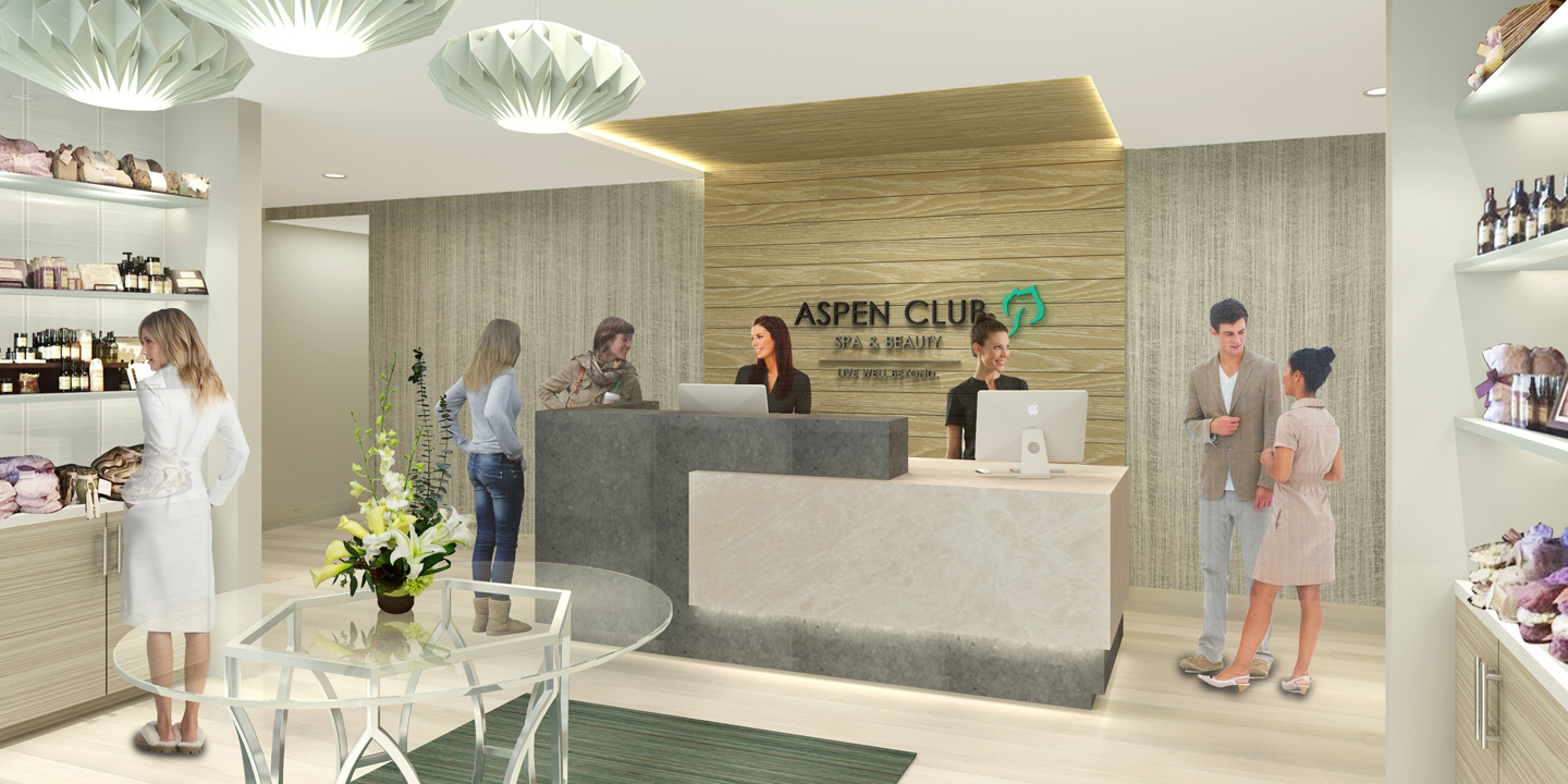Aspen Club Spa Entry Rendering