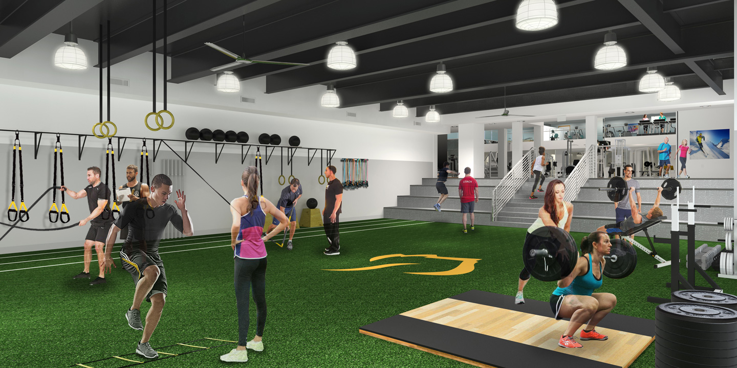 Aspen Club Sports Performance Studio Rendering