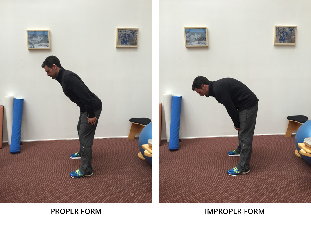 hip hinge - proper and improper form