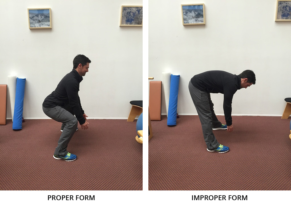 squat proper vs improper form